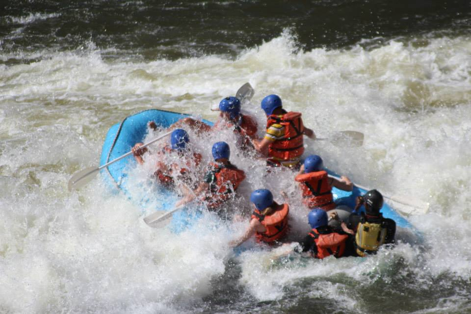 Riding the Zambezi Rapids